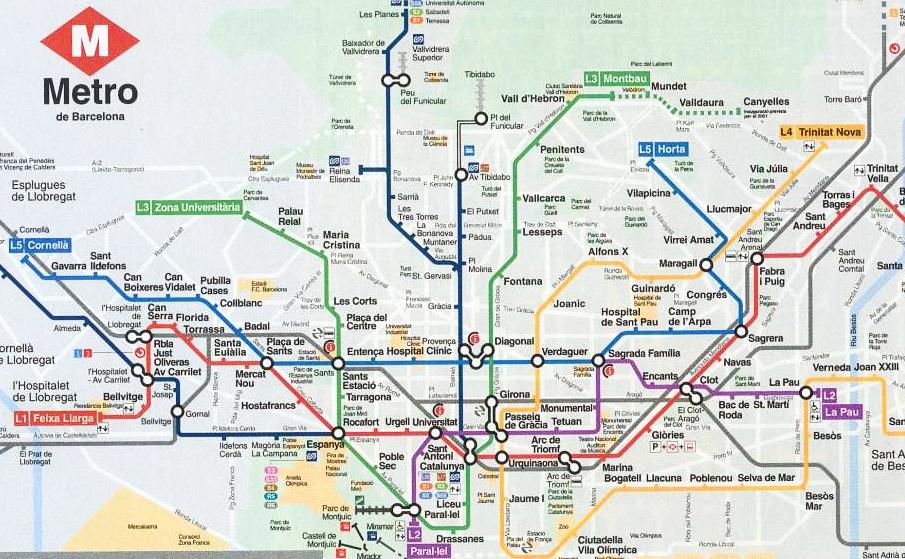 Mapa Transporte Publico Barcelona.Transporte En Barcelona Como Moverse Con El Transporte Publico