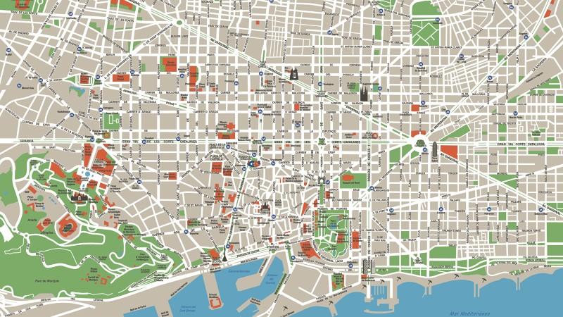Mapa De Barcelona Y Planos En Pdf Gratis Visite Barcelona