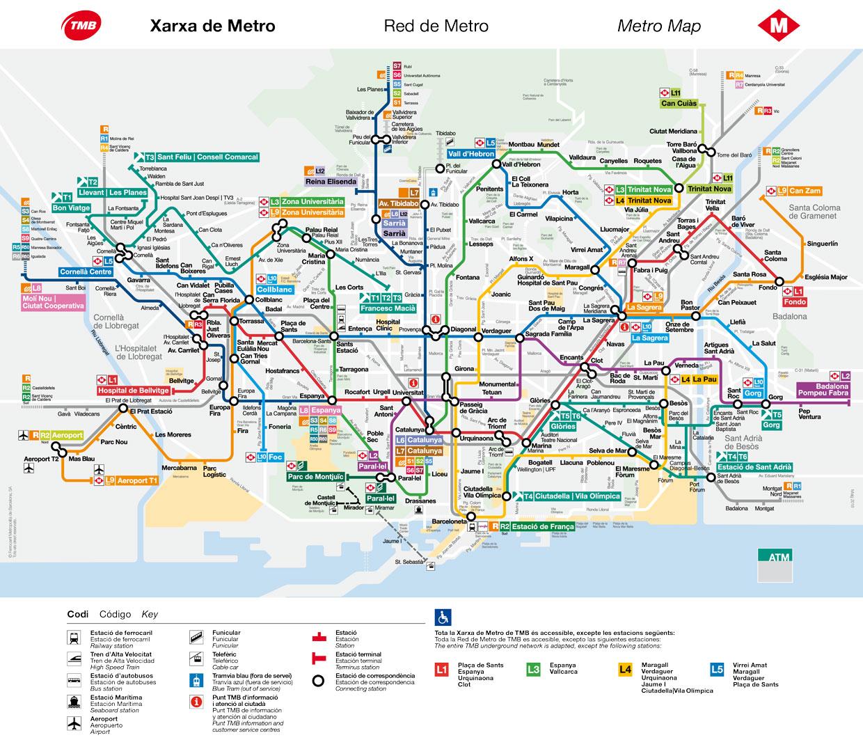 Mapa Metro De Barcelona Actualizado.Mapa De Barcelona Y Planos En Pdf Gratis Visite Barcelona